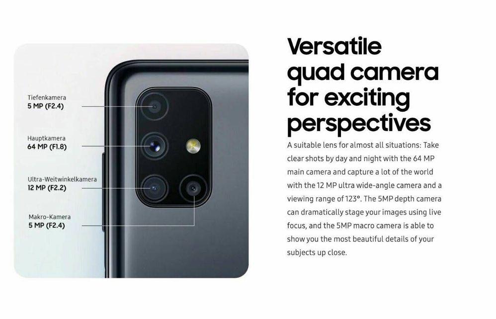 Samsung Galaxy M51 Camera Specs Samsung Members
