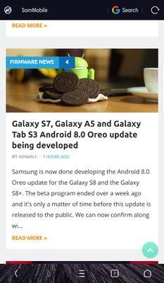Good News Android Oreo for S7 & S7 Edge - Samsung Global EU
