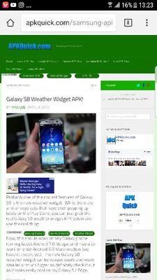 Samsung s8 weather widget apk