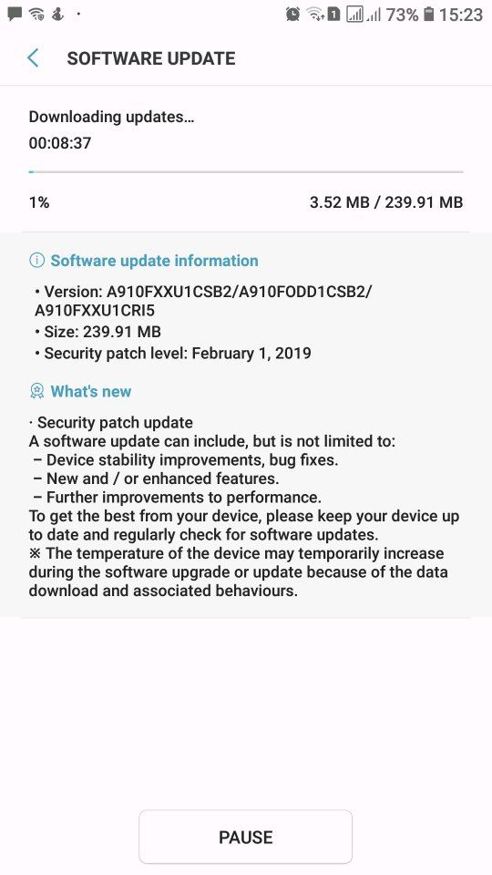A9 pro 2016 new update - Samsung Global EU