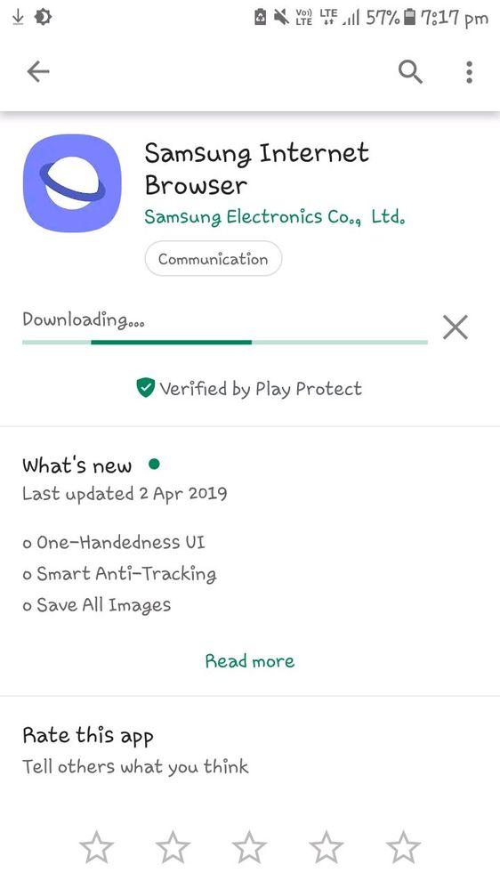 New update on Samsung Internet Browser - Samsung Global EU