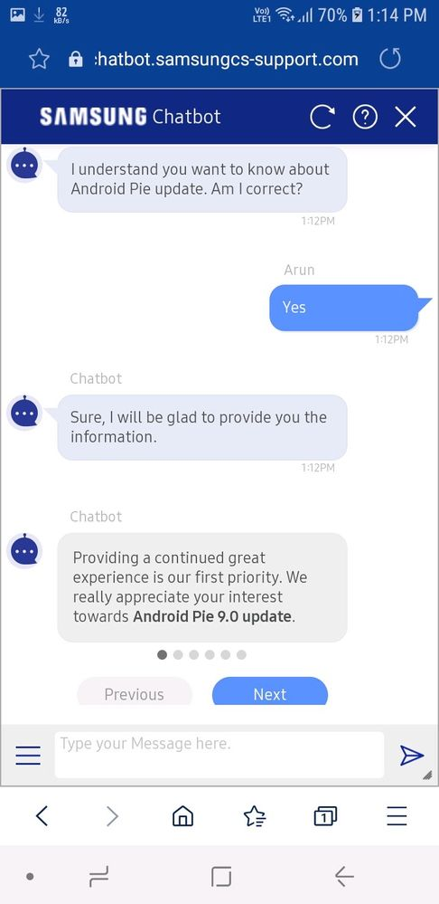 Solved: Android 9 0 (Pie) Update - Samsung Global EU