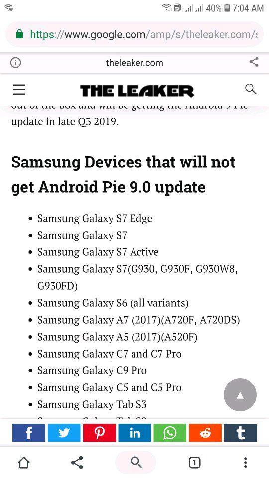 C7 Pro Update Pie