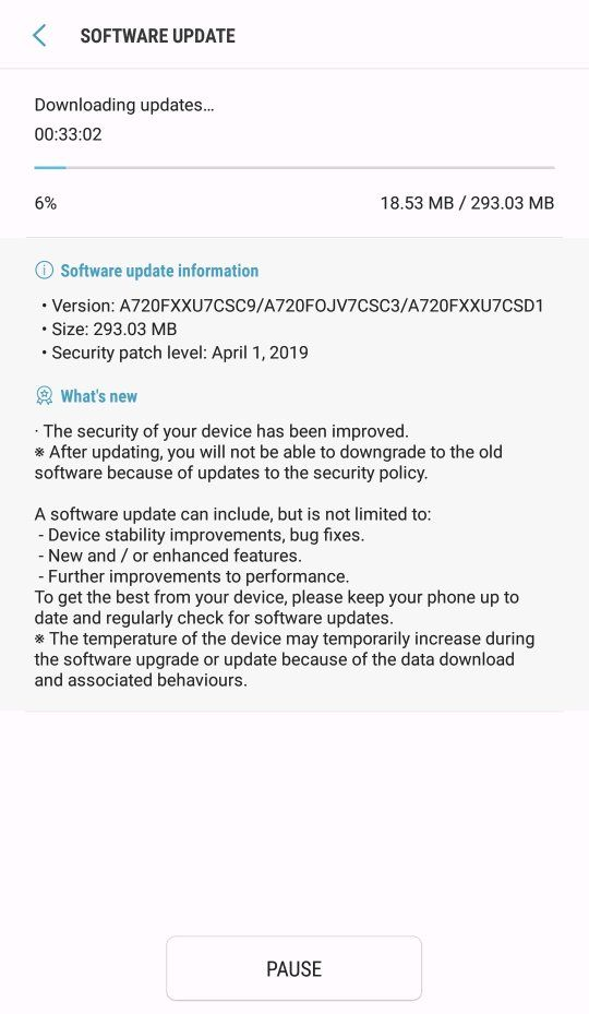 A7 2017 UAE update is here    check it out - Samsung Global EU
