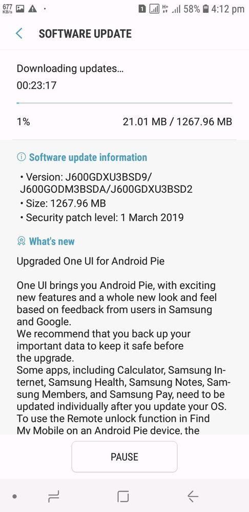 Samsung Galaxy j6 have pie update in bangladesh - Samsung