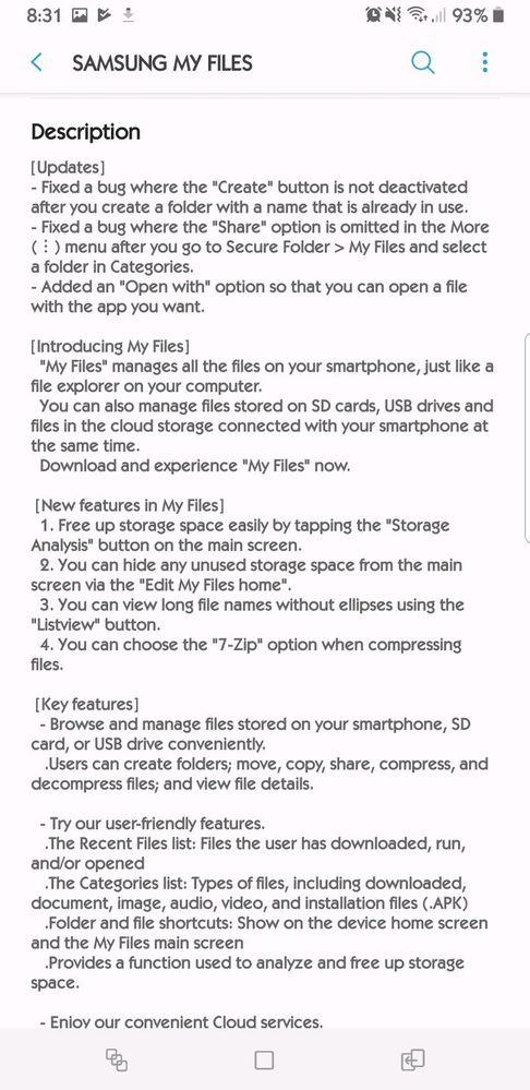 Samsung Note9 My Files Updated - Samsung Global EU