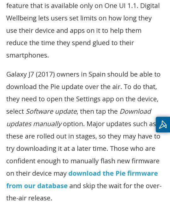 J7 pro pie update - Samsung Global EU
