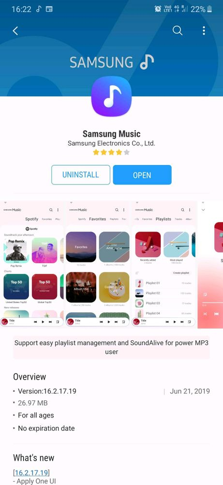 Samsung Music app for (M series devices) - Samsung Members