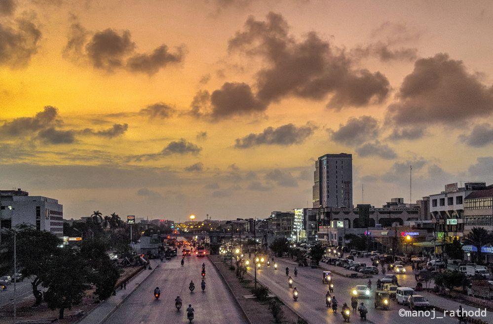Evening from karachi. #cloudsoverkarachi