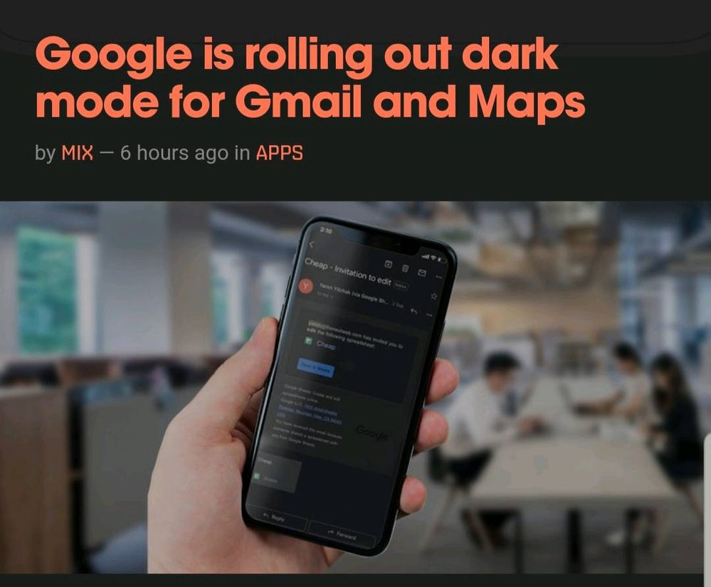 Google Is Rolling Out Dark Mode Gmail And Maps Samsung Global Eu