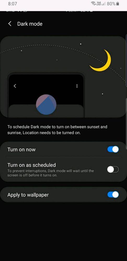 Android 10 Dark Mode Wallpaper Samsung Members