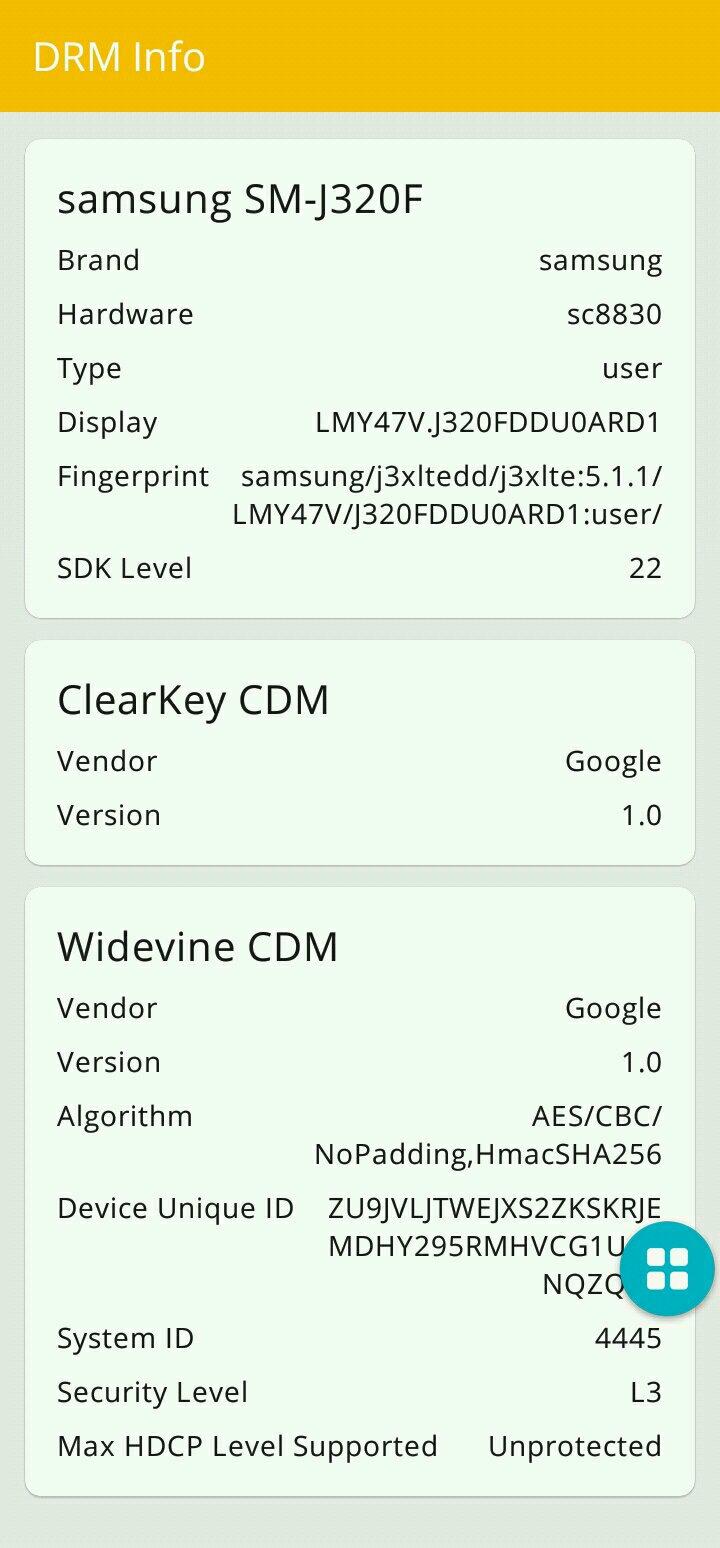widevine L1 certification - Samsung Global EU