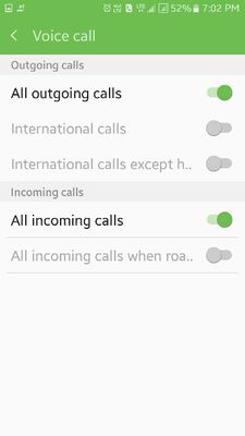 Call Barring - Samsung Global EU