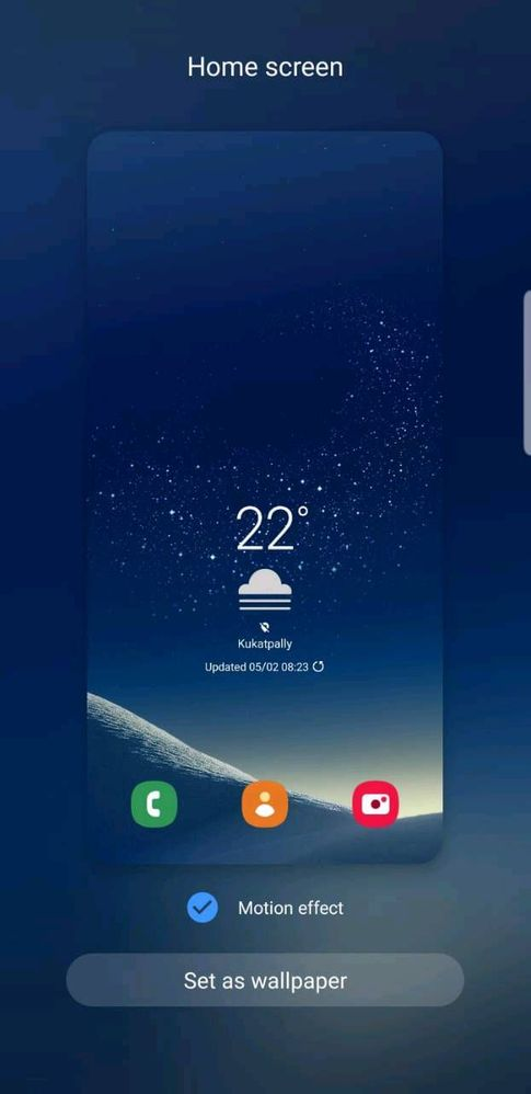 Motion Effect On Wallpapers Samsung Members