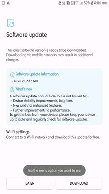 j7 prime software update - Samsung Global EU