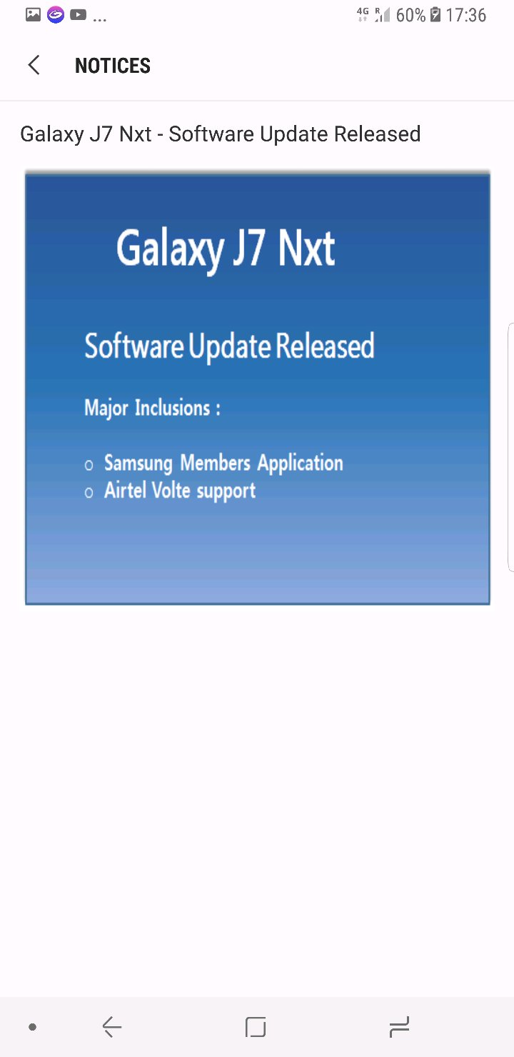 Galaxy J7 Nxt - Software Update Released - Page 5 - Samsung