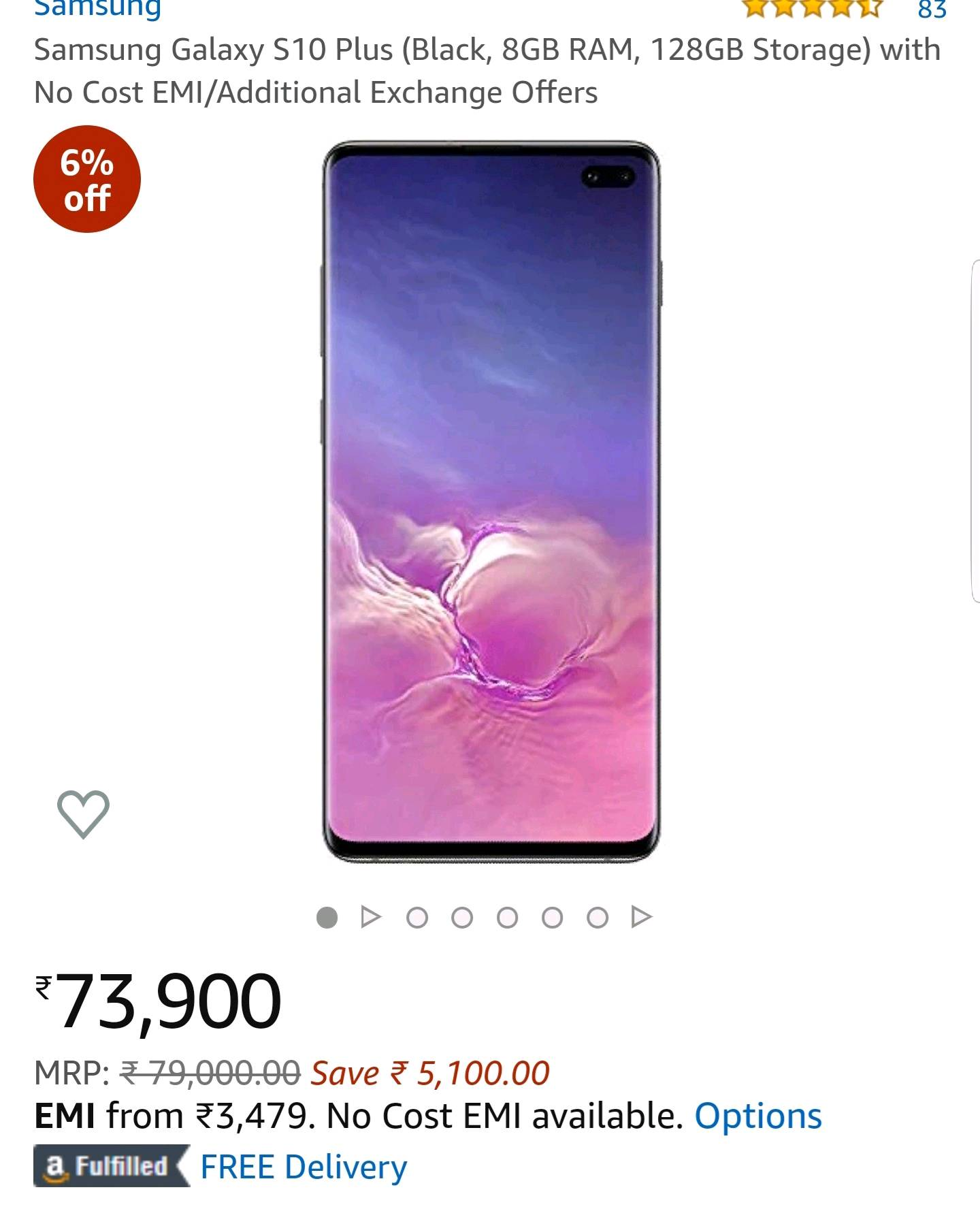 Samsung started to shrink price of s10 series - Samsung
